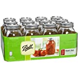 ball freezer jars quart - Ball Regular Mouth Quart 12 Pieces Jars (32oz) Made in USA