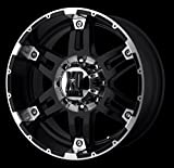 xd series rims 18 - XD Series by KMC Wheels XD797 Spy Gloss Black Wheel With Machined Face (18x9