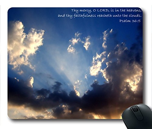 Inspirational Bible Verse Quotes Psalm 36:5 Oblong Mouse Pad in 240mm*200mm*3mm VQ0711024