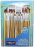 Sargent Art 56-3104 40 Piece Angular Brush Set