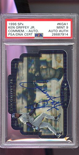 1996 Upper Deck Commemorative SPx Ken Griffey Jr. AUTO Autograph Graded Card PSA