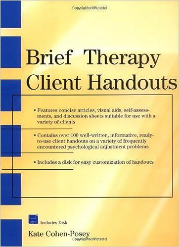 Brief Therapy Client Handouts: 9780471328469: Medicine & Health ...
