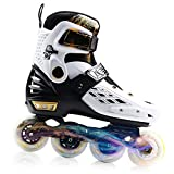 YF YOUFU Rollerblades for Adult/Youth/Kids, Adjustable Inline Roller Skates with Triple Protection, Front Foot Shield, Hard and Strong PU Wheels, Light-up Wheel on Front for Girls and Boys