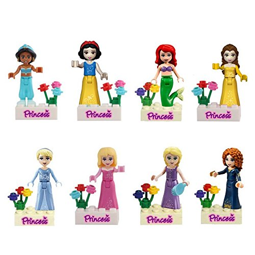 Series Set Mini - Princess Girls Series Lot of 8 Set Mini Figures Building Block Girls Toy Gift Brand New Compatible With Lego