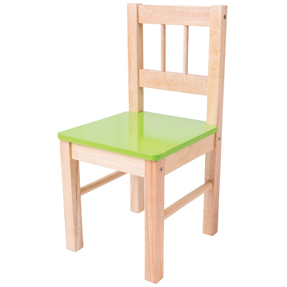 Bigjigs Toys Children's Wooden Green Chair - Bedroom Furniture and Accessories 691621022535