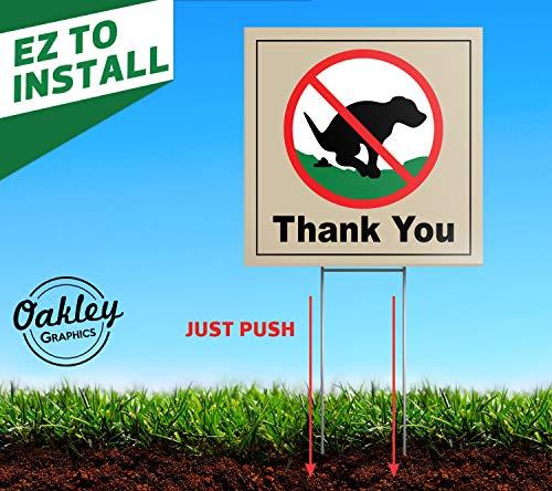 "2 Signs 6/""x6/"" Thank You Original Dog Poop Yard Sign No Pooping"