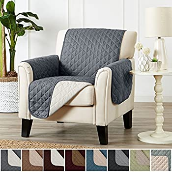 Two Fresh Looks In One. Perfect For Families With Pets And Kids. By Home  Fashion Designs Brand. (Chair   Charcoal / Beige)