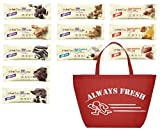 Think Thin High Protein Bar, Variety Pack of 10 Of Your Favorite Flavors, Packaged By Always Fresh With Tote As Seen.