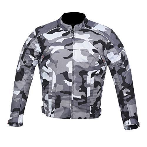 NORMAN Veste de Moto Imperm/éable Textile Motard Ce Renforc/é Cordura Camouflage