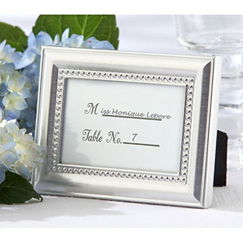 Beautifully Beaded Silver Photo Frame/Placeholder