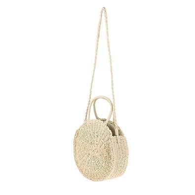 57c4b2dd573e0 Homyl Damen Mini Handytasche Brustbeutel Runde Taschen umhängetasche damen klein  handtasche - Beige