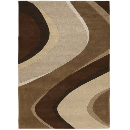 Couristan 2150/1040 Super Indo Area Rugs, 9-Feet 6-Inch by 13-Feet, Chocolate (Couristan Chocolate)