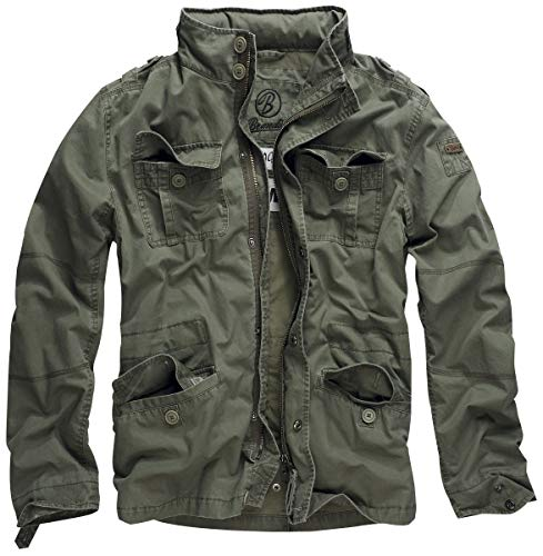 Brandit Britannia Jacket Olive Size L, used for sale  Delivered anywhere in USA
