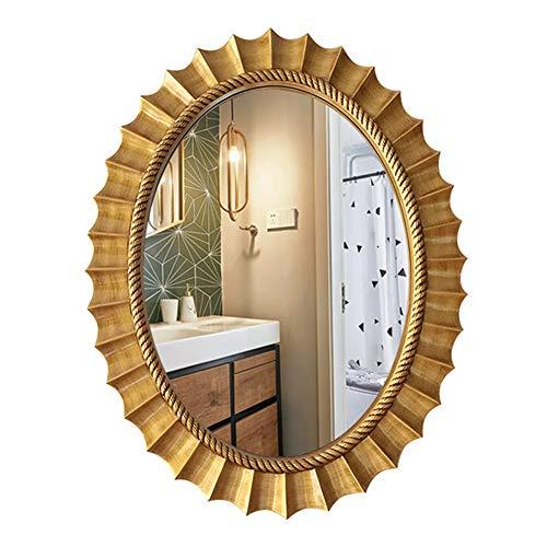 Bathroom mirror JWZQ, HD Silver Mirror | Oval Wall Mirror, Retro Makeup - Oval Bathroom Uses Mirrors Tilting