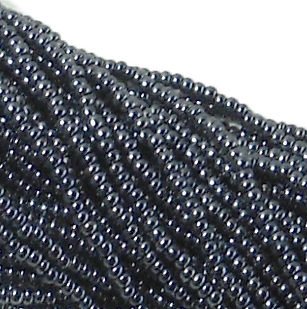 (Czech 11/0 Glass Seed Beads (4)(6 String Hanks) Which Is 24 18 Strands Preciosa Jablonex (Opaque Gunmetal)