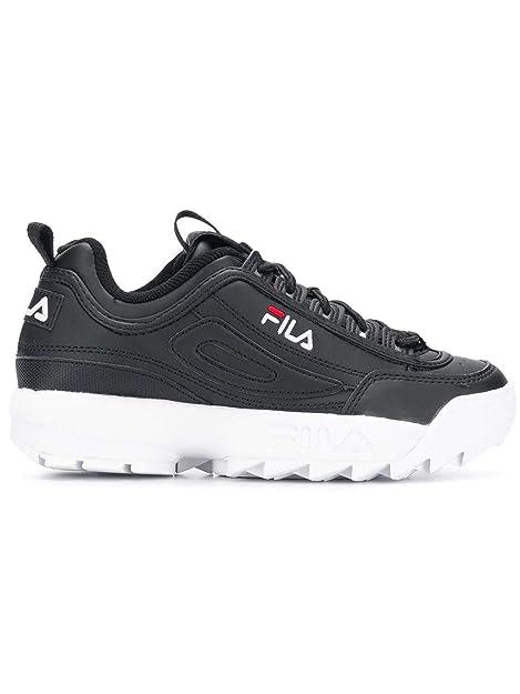 Fila Mujer 101030225Y Negro Cuero Zapatillas: Amazon.es: Zapatos y complementos