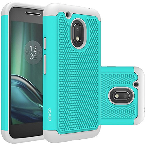 Moto G4 Play Case, OEAGO Moto G Play Case Cover Accessories [Shockproof] [Impact Protection] Hybrid Dual Layer Defender Protective Case Cover for Motorola Moto G4 Play / Moto G Play 4th Gen - Teal