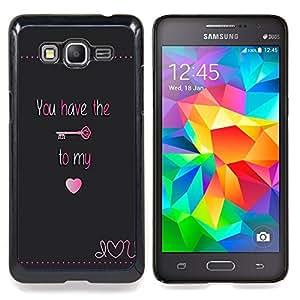 For Samsung Galaxy Grand Prime SM-G530F G530FZ G530Y G530H G530FZ/DS , Tener Clave Mi corazón bloquear texto de San Valentín - Diseño Patrón Teléfono Caso Cubierta Case Bumper Duro Protección Case Cover Funda