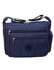 Bagtopia Women's Casual Crossbody Shoulder Bag Waterproof Zipper Nylon Satchel Purse with Multi Pockets