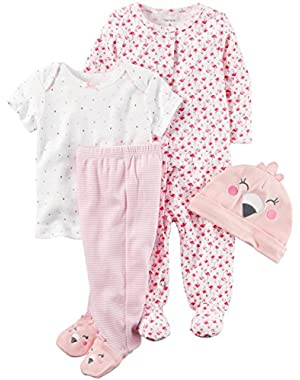 Baby Girls' Flamingo Layette Set