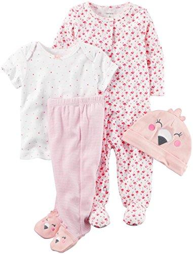 Carters Baby Girls Flamingo Layette