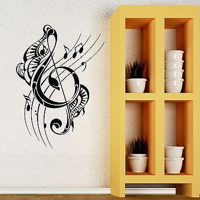 Wall Decal Music Musical Note Beautiful Room Decor Vinyl Stickers VS2738