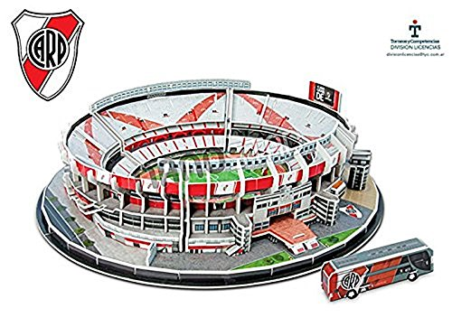 Amazon.com: River Plate El Monumental Stadium 3D jigsaw puzzle (kog): Varios: Toys & Games