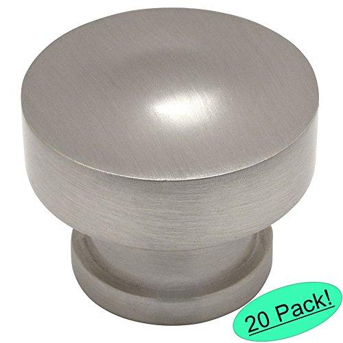 Cosmas 704SN Satin Nickel Round Contemporary Cabinet Hardware Knob - 1-1/4