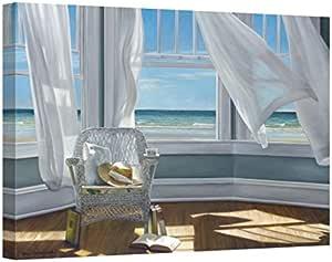 Amazon Com Easy Art Prints Karen Hollingsworth S Gentle Reader Premium Canvas Art 24 X 36 Posters Prints
