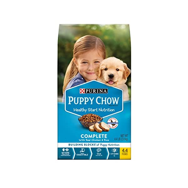 Purina Puppy Chow High Protein Dry Puppy Food, Complete With Real Chicken, 4.4 Pound (Pack of 4)