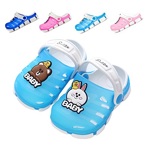 Lightweight Slip Sandals - Techcity Toddler Boy Girl Summer Sandals Non-Slip Little Kids Sport Slide Lightweight Beach Water Clogs Shoes Shower Pool Slippers