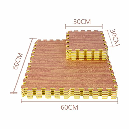 The Emulation flooring foam rollmat large stitching woodgrain Sponge Pad Home Child Foam Puzzle Mats ,30301.2 CM, light by TDLC (Image #5)