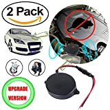 electronic squirrel repeller - funfunfly 2Pack [Upgrade Version] Ultrasonic mouse rat mice repeller. Compatible with cars & vehicle No Additional External Battery Needed. Underhood design