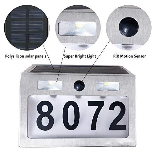 Solar Lighted Address Sign House Number Outdoor Lighting Solar Doorplate Light 682838651083 Ebay