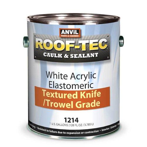 Anvil ROOF-TEC Caulk & Sealant White Acrylic Elastomeric Texture Knife/Trowel Grade, 1 Gallon (Texture Trowel)