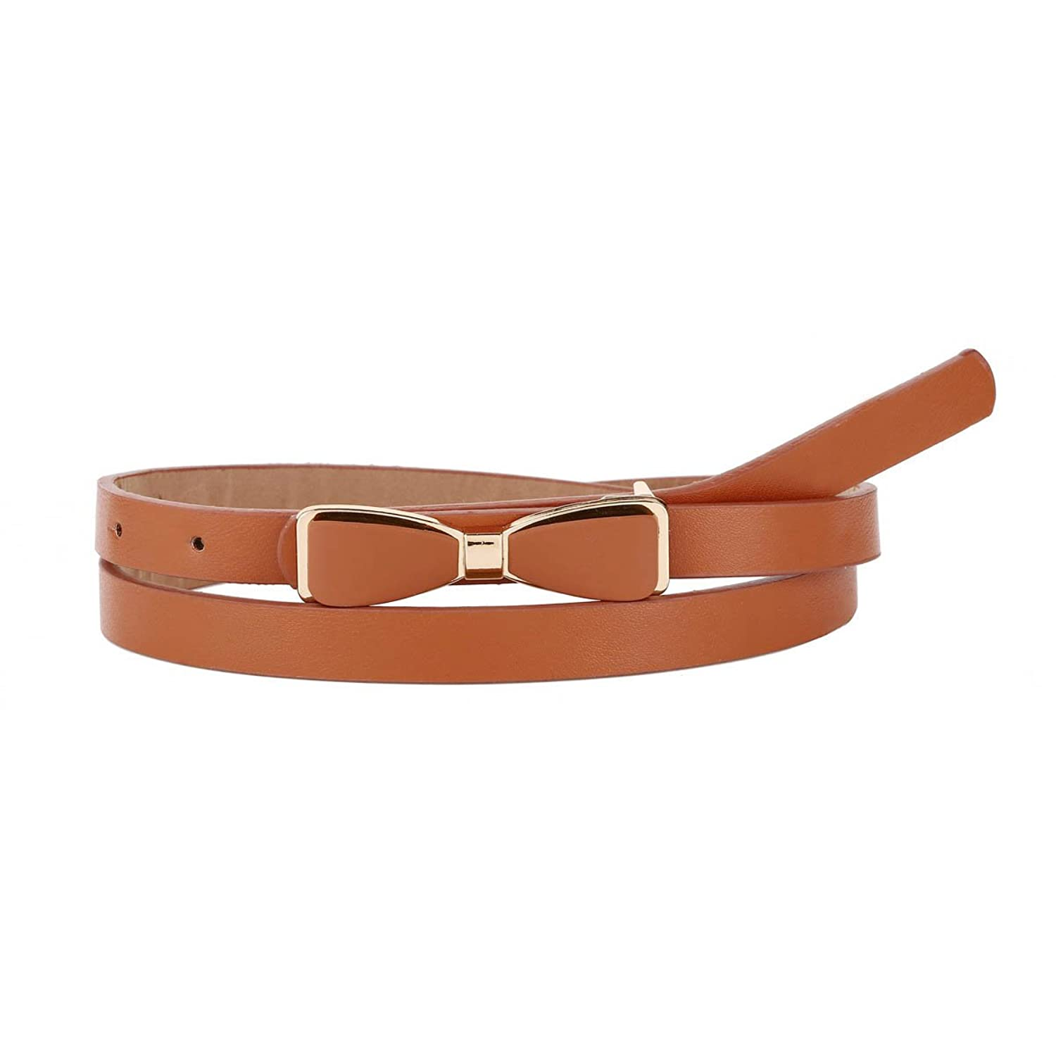 Damara Women Stylish Bowknot Faux Leather Dress Belt