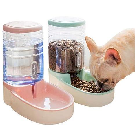 YJIUJIU Dispensador Y Alimentador Automático De Agua para Mascotas, para Perros Y Gatos, Mascotas