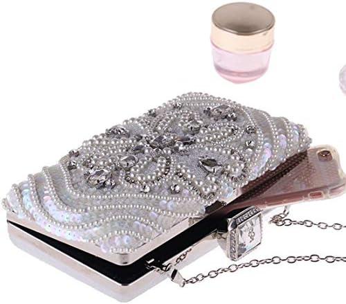 新しいファッションクラッチ、ビーズのダイヤモンドイブニングバッグ、夕方の小さな正方形のバッグ、絶妙なデザイン 美しいファッション