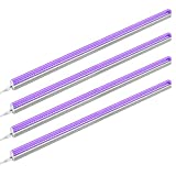 Onforu 22W UV LED Black Light Bar, 4ft T5 LED Tube with 5.0ft Power Cord with Switch, Glow in The Dark Party Supplies for Body Paint, Fluorescent Poster, Christmas Lights. (4 Pack)