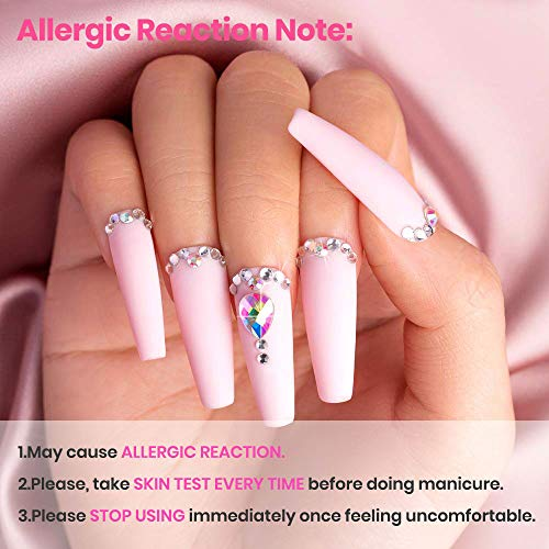 Beetles Poly Extension Gel Nail Kit, 30g Nail Extension Gel with 48W Nail Lamp Slip Solution Nail Strengthener Rhinestone Glitter All In One for Nail Manicure Beginner Starter Kit