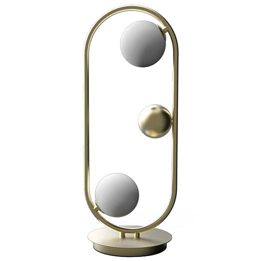 DUOER home Lámpara de Mesa Simple de la Bola de Cristal nórdica ...