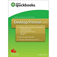 Intuit QuickBooks Desktop Premier 2018 - English Accounting Software 2018