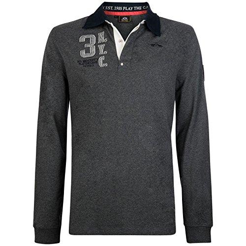 Hv Polo Society Herren Rugbyshirt Pullover Sweatshirt Tomkins Graphite Grau Dunkelgrau Melange M L XL XXL