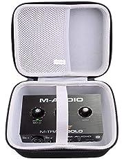 waiyu Funda rígida EVA para M-Audio M-Track Solo - Interfaz de audio USB