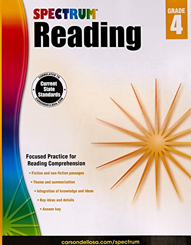 Spectrum Reading Workbook, Grade 4 (Reading Comprehension Grade 4)