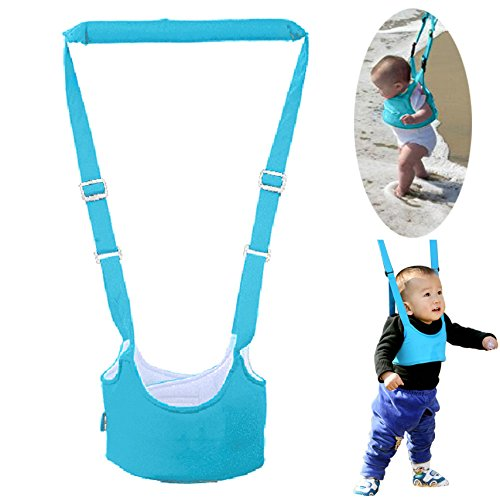 Sealive Handheld Baby Walker Learning to Walk Toddler Walking Baby Toys Adjustable Baby Learning Walker Safe Keeper, Soft and Breathable Walk Assistant, Great Helper for 6-18 Months Baby