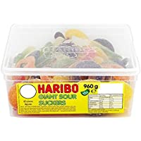 Haribo Giant Sour Suckers - 960g - Approx 60 Pieces