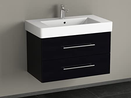 Cabine Bagno Complete : Bagno aqua flex bathroom furniture 80 cm with black finish: amazon