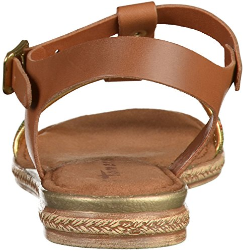 Tamaris 1-1-28149-28-392 - Sandalias de vestir de Piel para mujer COGNAC COMB