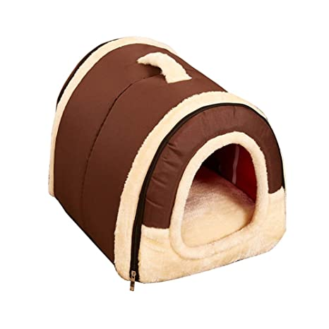 YUnnuopromi - Caseta Universal para Mascotas, Pared de ladrillo/Estrellas, Plegable, cálida